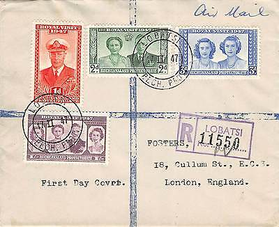 BECHUANALAND - Registered First Day Cover - FDC Royal Visit Issue - 1947