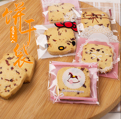 100 200 300 Cellophane Party Cookie Biscuit Sweet Candy Food Gift Bag Pink Blue