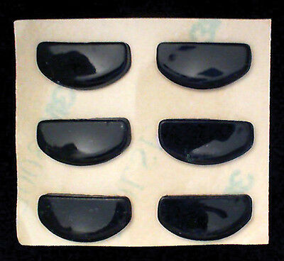 Adhesive Stick on Silicone Nose Pads for Glasses 13mm Black 6-84 Count