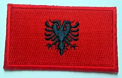 Albania Flag Patch Embroidered Iron On Applique Albanian
