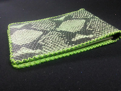 "Green Python Leather Score Card Holder ""Next generation"""