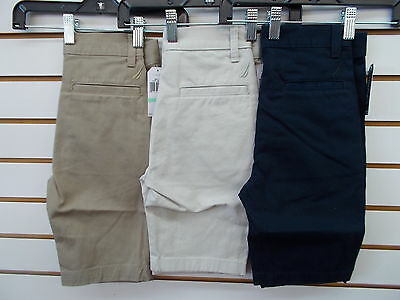 Boys Nautica $36.50 Assorted Uniform/Casual Flat Front Slim Fit Shorts Size 8-16