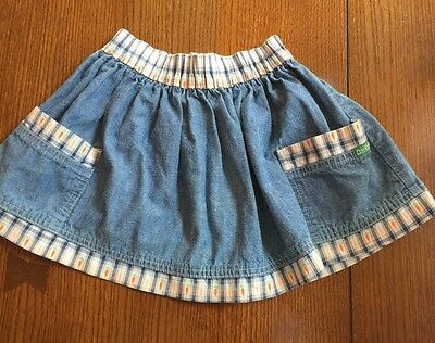 OshKosh Toddler Girl Blue Jean Skirt Size 4t Cotton