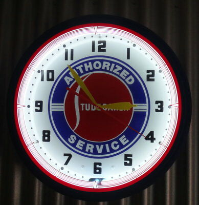 """20"""" Large 110 Volt Neon STUDEBAKER Electric Wall Clock."""