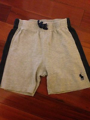 Toddler Boy Boys Pull On Shorts Polo Ralph Lauren Size 2 2t Gray  Navy Euc