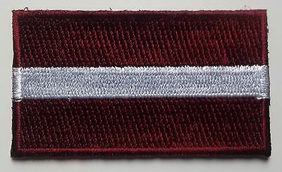 Latvia Flag Patch Embroidered Iron On Applique Latvian