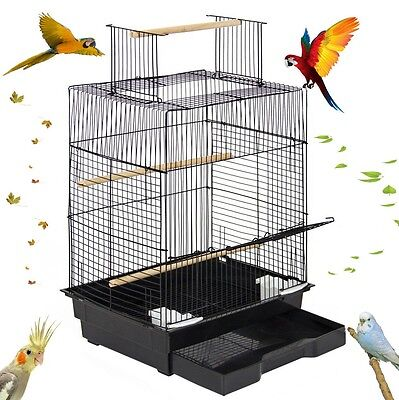 Bird Cage with Open Play Top Parrot Small Birds Parakeets Habitat Caged Macaw