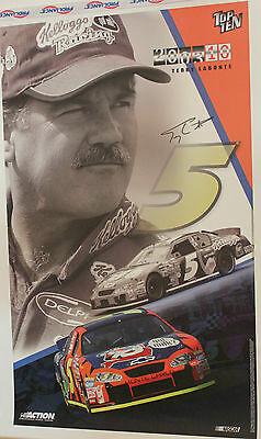2003 Action Collectables Terry Labonte Signed Poster