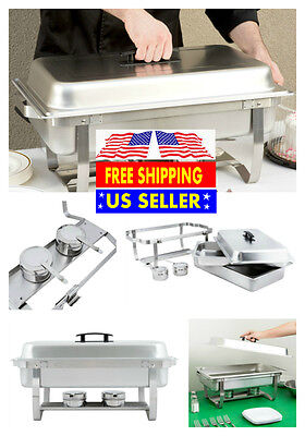 5 Pack Catering Stainless Steel Chafer Chafing Dish Sets 8 Qt Full Size Buffet