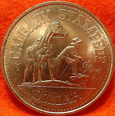 1977 Canada Trade Dollar CALGARY STAMPEDE COMMONWEALTH GAMES   Uncirculated