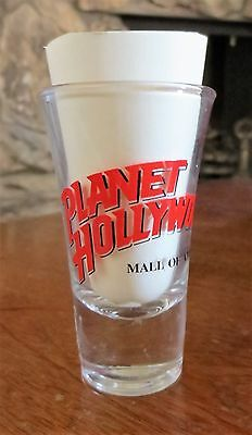 Vintage Planet Hollywood Mall of America Souvenir Shot Glass Clear Used