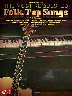 The Most Requested 62 Folk Pop Songs Piano Sheet Music Guitar Chords Book NEW