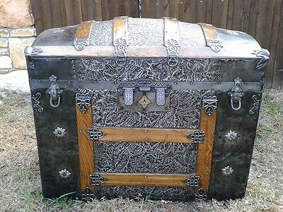 1890's Antique Dome Top Trunk
