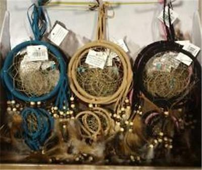 18 Wholesale Asst 5'' Dream Catchers beads and feathers wall hanging home decor