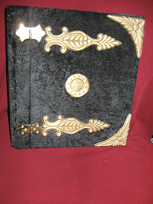 """Grimoire 3 Ring Binder 2"""" Hinged Front and Back Molded Corners and Pentacle"""