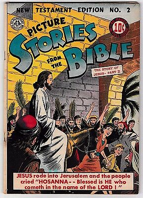 PICTURE STORIES FROM THE BIBLE NEW TESTAMENT EDITION #2 JESUS 1945 All American