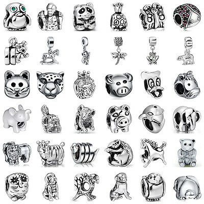 925 Fashion European Sterling Animal Cz Silver Charm Bead for Charms Bracelet