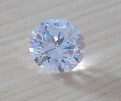 Bright White Sapphire Round Faceted Cut VVS Loose Gemstone From China