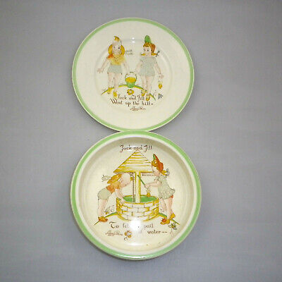 Vintage WR Midwinter & Co Nusery Bowl & Plate Set
