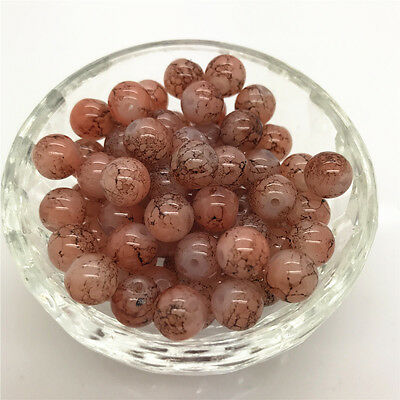 DIY 100 Pcs 4mm Round Pearl Loose Beads Double Colors Glass Jewelry Making #25