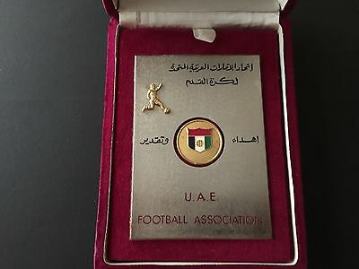Plaque Of Appreciation United Arab Emirates To Fifa President Stanley Rous