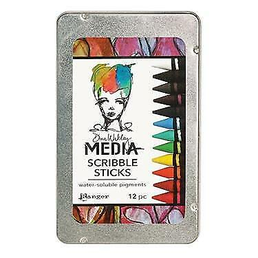 Dina Wakley Scribble Sticks - Set of 12 Watercolours