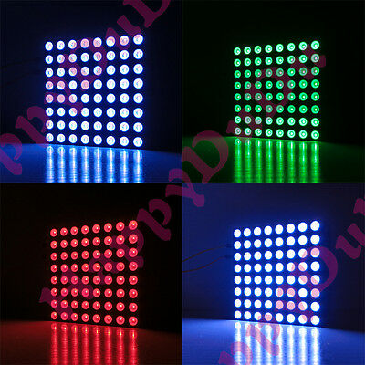 RGB 48x48mm Colorful Full Color LED 8x8 Dot Matrix Display Square Common Anode