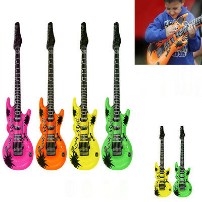 1,3,6 Neon Guitars Blow-Up Inflatable Kid's Fancy Dress Party Musical Disco Rock