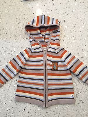 Baby Boys Beatrix Potter Peter Rabbit Striped Knitted Hoodie Size 00