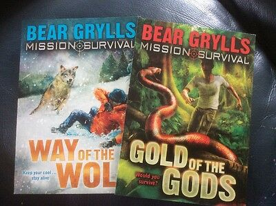 Bear Grylls Mission Survival Gold Of The Gods Promotional/advertising Postcards