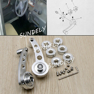 HI-Q Silver Billet Aluminum Car Window Winders/Door Cranks Handles Universal Kit