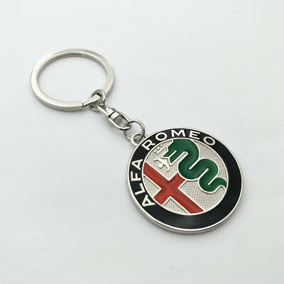 Delicate car Key Chain Metal, Single Side logo, Keychain Key Ring for Alfa romeo