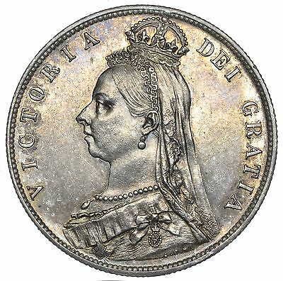 1889 Halfcrown - Victoria British Silver Coin - Superb