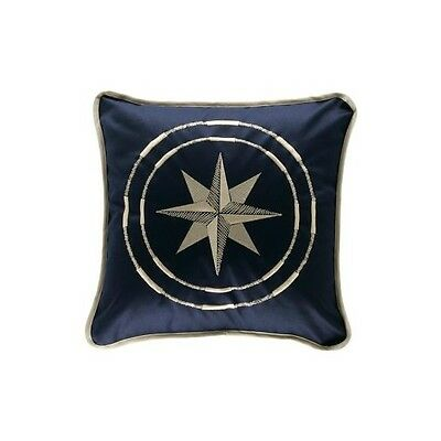 PILLOW COTTON 40x40 CM BLUE WITH WIND ROSE