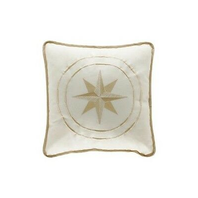 PILLOW COTTON 40x40 CM WHITE WITH WIND ROSE
