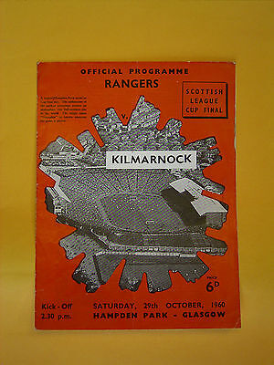 Scottish League Cup Final - Rangers v Kilmarnock - 29th October 1960