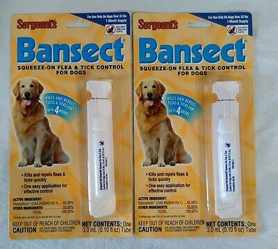 Sergeants Bansect Flea & Tick Control For Dogs Over 33lbs Two Months Supply