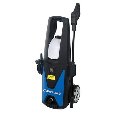 New Silverline 135 Bar 1400W Jet/pressure Washer Car Or Patio Cleaner
