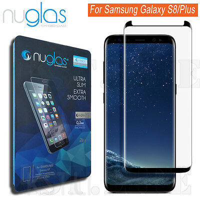 NUGLAS Samsung Galaxy S8/S8 plus Screen Protector, Full Coverage Tempered Glass