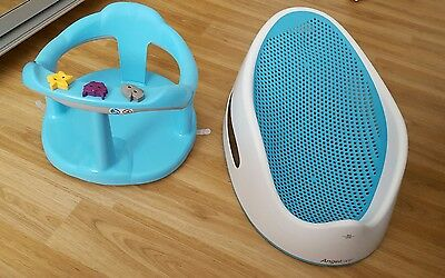 2 baby comfort and safety bath seat support