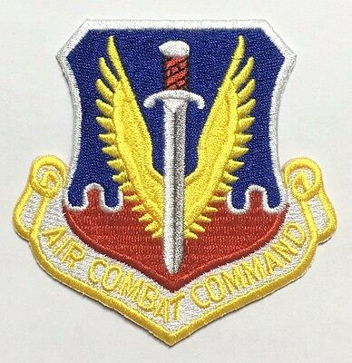 Military Colored Us Air Force Usaf Air Combat Command Patch -1690
