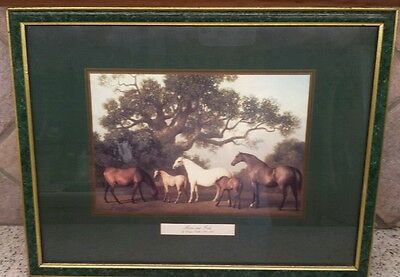"Mares and Foals Print by George Stubbs (1704-1806) Framed 16"" X 12"""