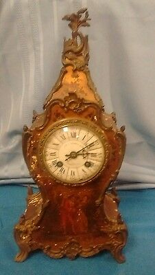 antique french mantle clock porcelain dial JP Caldwell Philadelphia