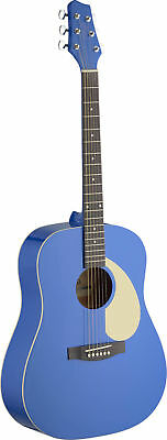 Stagg SA30 Dreadnought Acoustic Guitar Blue - SALE - ONE ONLY