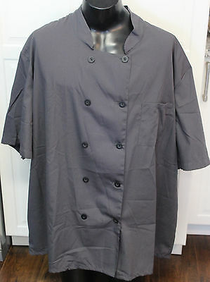 5 Star Short Sleeve Chef Coat Jacket Grey NEW 5XL
