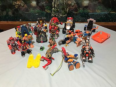 Fisher Price Rescue Heroes Lot C Of 14 Figures W/ 11 Acc & 3 Vehicles