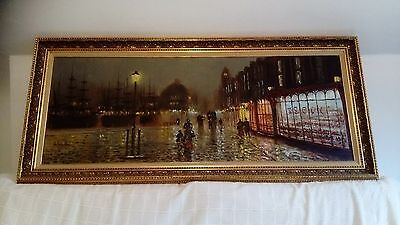 JOHN BAMPFIELD Oil on canvas  Authentic Original 54x24 inches