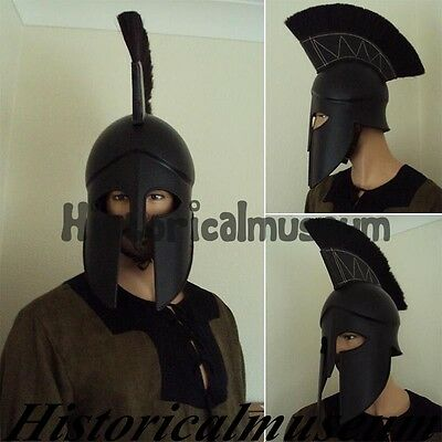 Greek / Spartan Corinthian Helmet. Styled On The Brad Pitt Movie TROY QZGF4