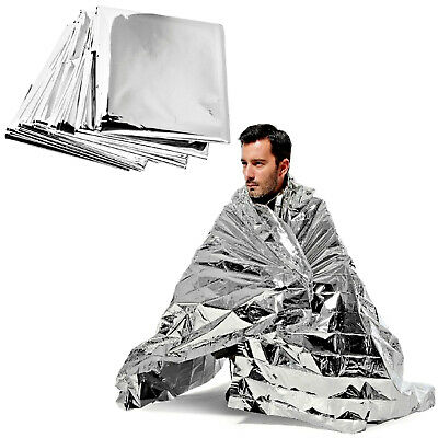 Emergency Mylar Thermal Blanket 100ct Individually Packaged Disposable First Aid