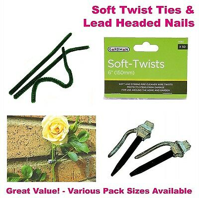 5 Lead Headed Nails Garden Wall Plant Tie Back Traditional